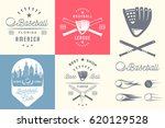 vector set of baseball logos ... | Shutterstock .eps vector #620129528