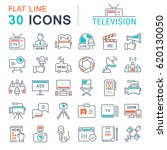 set vector line icons  sign and ... | Shutterstock .eps vector #620130050