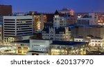 panorama of wichita at night.... | Shutterstock . vector #620137970