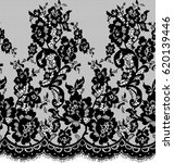 seamless vector black lace... | Shutterstock .eps vector #620139446