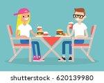 restaurant visitors. two... | Shutterstock .eps vector #620139980