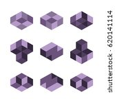cube logo concept  vector...   Shutterstock .eps vector #620141114