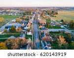 Aerial View Of Main Street  In...
