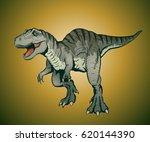 illustration of tyrannosaurus... | Shutterstock .eps vector #620144390