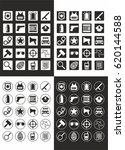 flat police and justice icons... | Shutterstock .eps vector #620144588
