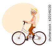 stylish elder woman  old lady... | Shutterstock .eps vector #620148230