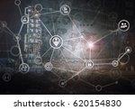 industrial security concept | Shutterstock . vector #620154830