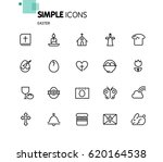 easter icons with white... | Shutterstock .eps vector #620164538