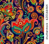 paisley floral seamless pattern.... | Shutterstock .eps vector #620166464