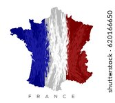 isolated french map with its... | Shutterstock .eps vector #620166650