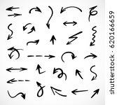 hand drawn arrows  vector set | Shutterstock .eps vector #620166659