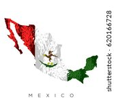 isolated mexican map with its... | Shutterstock .eps vector #620166728