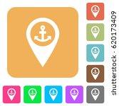sea port gps map location flat... | Shutterstock .eps vector #620173409