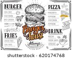 food menu for restaurant and... | Shutterstock .eps vector #620174768