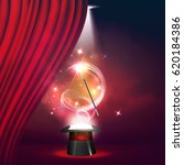 magic show poster design... | Shutterstock .eps vector #620184386