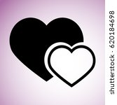 two hearts icon | Shutterstock .eps vector #620184698