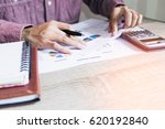 people with calculator counting ... | Shutterstock . vector #620192840