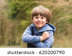 outdoor portrait of cute young... | Shutterstock . vector #620200790