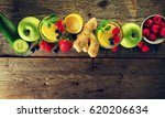 tasty beautiful ingredients... | Shutterstock . vector #620206634