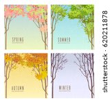 set of vector backgrounds... | Shutterstock .eps vector #620211878