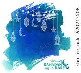 ramadan kareem greeting card  ... | Shutterstock .eps vector #620212508