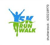 runner icon for marathon event... | Shutterstock .eps vector #620218970