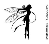 silhouette of the graceful... | Shutterstock .eps vector #620220593