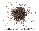 Dry Tea Leaves  Isolated On...