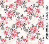 seamless floral pattern with... | Shutterstock .eps vector #620234864
