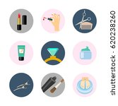 beauty and spa flat icons....