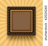 Retro Frame On A Striped...