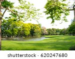 Scenic View Of The Park In The...