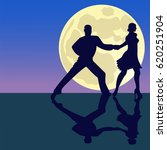 latina dancing silhouettes in... | Shutterstock .eps vector #620251904