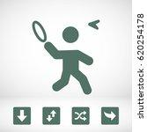 badminton icon | Shutterstock .eps vector #620254178