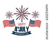 independence day with flags and ... | Shutterstock .eps vector #620254694