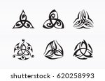 triquetra symbol. decorated...