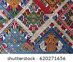 old colorful laos silk | Shutterstock . vector #620271656