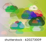 fog pattern elements | Shutterstock .eps vector #620273009