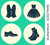 garment icons set. collection...   Shutterstock .eps vector #620274440