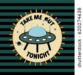 badge patch cartoon ufo space... | Shutterstock .eps vector #620274638