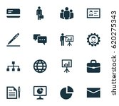 business icons set. collection... | Shutterstock .eps vector #620275343