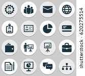 Business Icons Set. Collection Of Payment, Statistics, Presentation Board And Other Business Icons Elements. Also Includes Symbols Such As Letter, Pen, Hierarchy. | Shutterstock vector #620275514