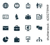 trade icons set. collection of... | Shutterstock .eps vector #620275949
