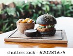 vegetarian burger made with... | Shutterstock . vector #620281679
