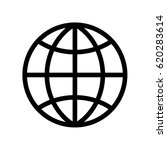 simple world   globe vector... | Shutterstock .eps vector #620283614