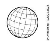 world   globe vector icon logo. ... | Shutterstock .eps vector #620283626