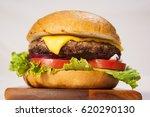 cheeseburger with lettuce ...   Shutterstock . vector #620290130