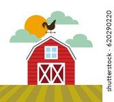 farm barn design | Shutterstock .eps vector #620290220