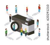 shopping isometric icons design | Shutterstock .eps vector #620291210
