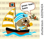 bear the sailor with little... | Shutterstock .eps vector #620296424
